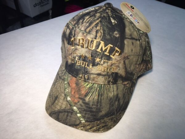 TRUMP NO BULL $HIT MOSSY OAK CAMO EMBROIDERED TRUMP 2016 Tan Embroidery