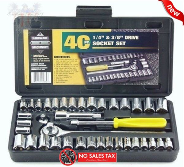 Standard SAE & Metric 40 Piece Socket 1/4'' & 3/8