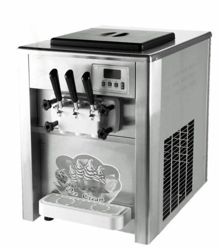 Commercial 18LH 3 Flavor ice cream maker Soft ice cream making machine 220V