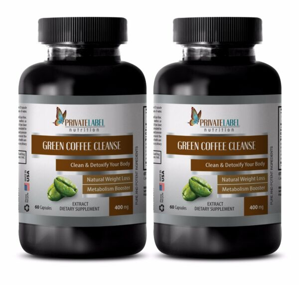 Green Coffee Bean Extract 400mg - Weight Control - Fat Burner Pills - 2B