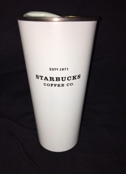 Starbucks Blue Stainless Steel Tumbler Mug Coffee Cup 1971 Europe Release 16 Oz