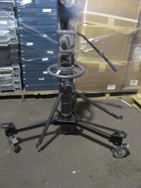 OEM LIBEC P 110 P110 Pedestal System Video Camera Studio Tripod H85 Fluid Head