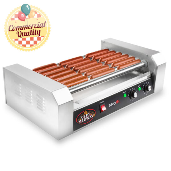 Commercial Electric 18 Hot Dog 7 Roller Grill Cooker Machine 900 Watt $110.99
