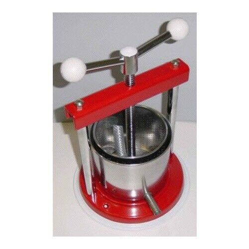 Fruit Press 1.3L Mini Press Aluminum Stainless Steel Tincture Cheese Wine Beer