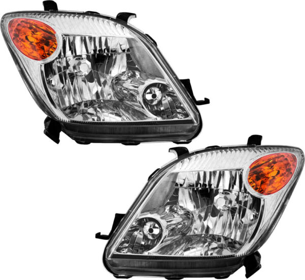 New Headlights Headlamps Both Driver & Passenger Side Pair for 2006 Scion xA