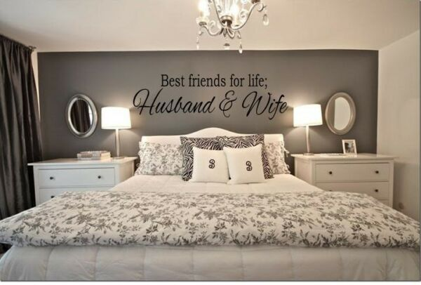 BEST FRIENDS FOR LIFE HUSBAND & WIFE Wall Art Decal Quote Words Lettering Decor