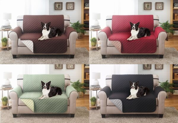 SLIPCOVER REVERSIBLE LOVESEAT PET FURNITURE COUCH PROTECTOR COVER 1800 COUNT $22.99