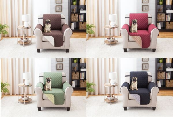 SLIPCOVER REVERSIBLE CHAIR PET DOG FURNITURE COUCH PROTECTOR COVER 1800 COUNT $19.99