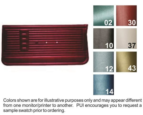 1967 Chevrolet El Camino Door Panels - PUI
