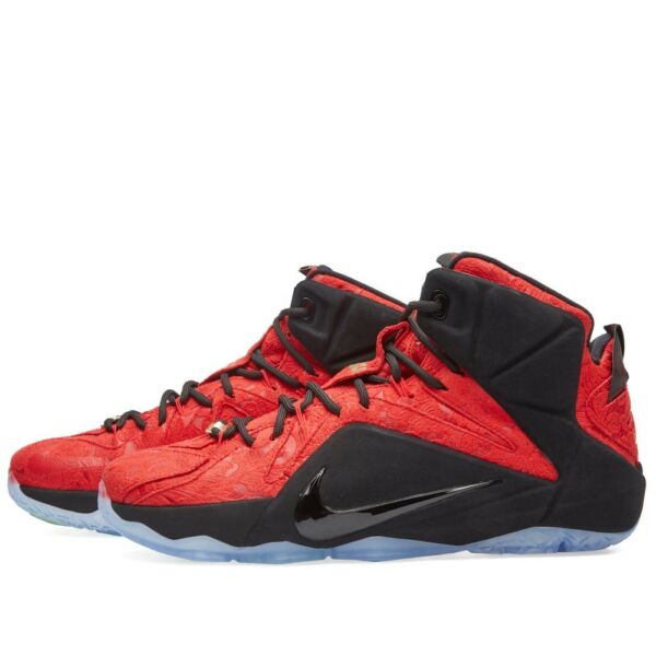 Nike LeBron 12 XII EXT Red Paisley Size 11.5. 748861-600 cork wheat suede kyrie