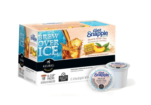 Snapple Diet Peach Iced Tea Keurig K-Cups 72 Count Free Shipping