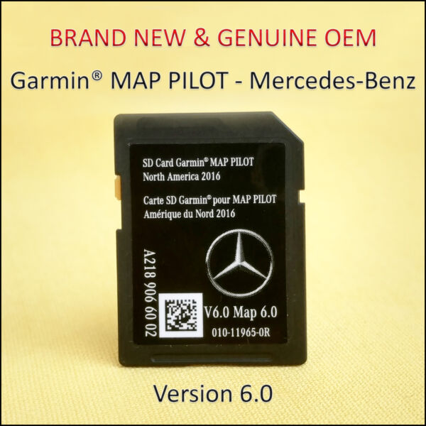 Mercedes-Benz CLA-CLS-GLA-SLC-B-E-Class Navigation SD Card GARMIN Map Pilot OEM