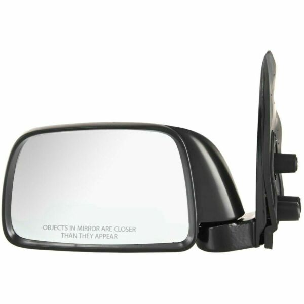 New TO1320116 Driver Side Manual Black Door Mirror for Toyota Tacoma 1995-2000