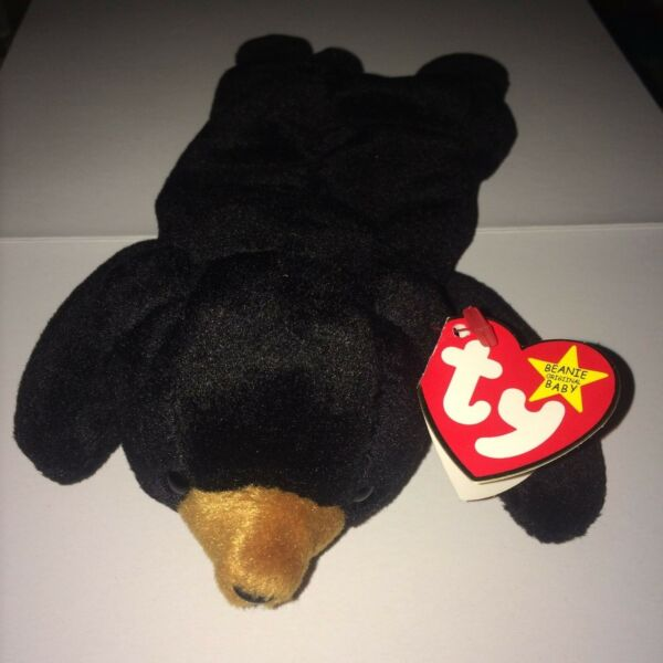 BLACKIE the BEAR Rare Ty Beanie Baby 7 Tag Errors Origiinal Suface 19931994 PVC