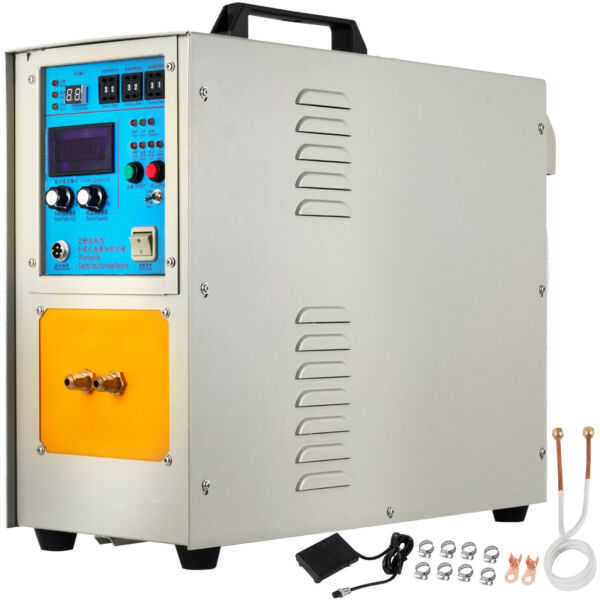 15KW High Frequency Induction Heater Furnace 110V 18Kg(40 Lbs) 30-100 Khz
