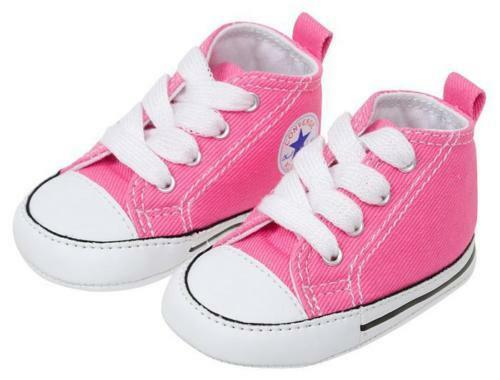 CONVERSE NEWBORN CRIB Pink 88871 FIRST ALL STAR BABY GIRL SHOES SIZE 1- 4 NEW