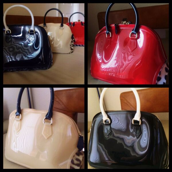 NEW! DALEILA Women PVC bag, candy color shiny and jelly handbag purse.