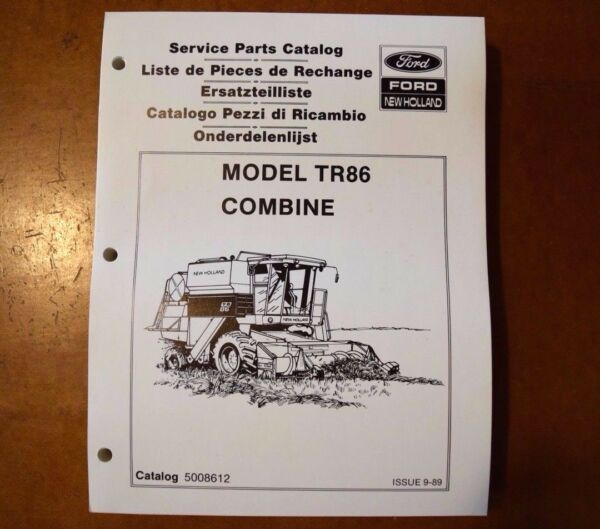 BRAND NEW Ford New Holland TR86 Combine Service Parts Catalog (5008612) (1989)