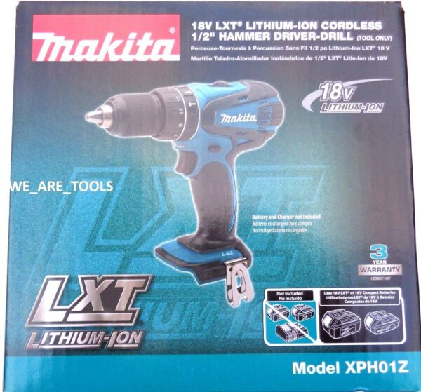 New IN BOX Makita 18V XPH01Z LXT Cordless 1/2