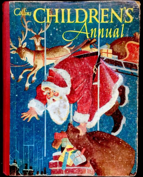 THE COLLINS CHRISTMAS CHILDREN#x27;S ANNUAL Vintage 1950#x27;s Santa Story Book