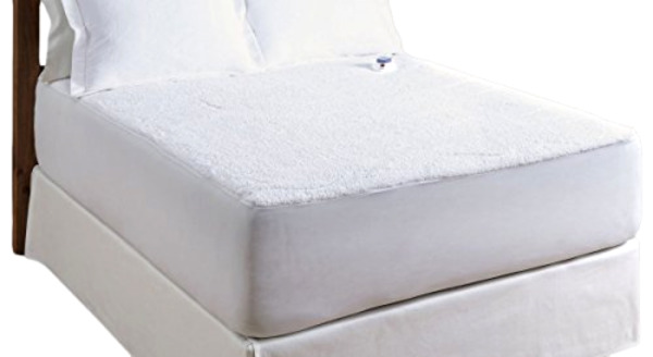 Serta Luxurious Sherpa Top Low-Voltage Electric Heated Mattress Pad Queen White