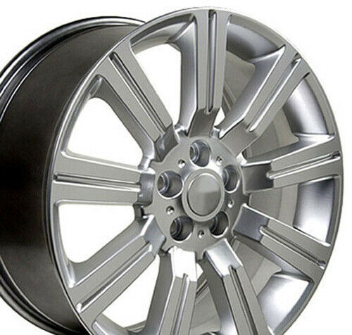 22x10 Rims Fit LRover - Range Rover Stormer Style Hyper Silver Wheels SET