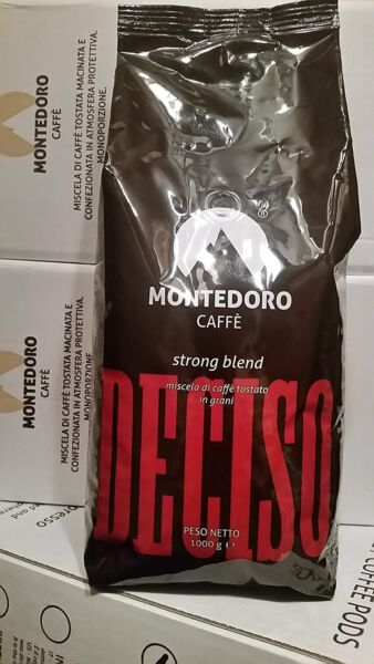 12Kg Italian Espresso Beans Coffee Whole Bean Montedoro Deciso Strong Bleand.