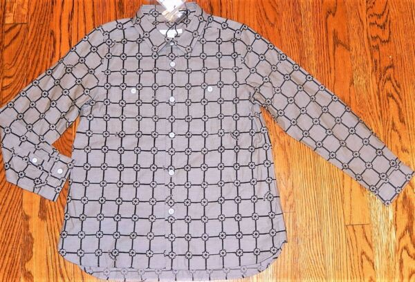 BURBERRY ORIGINAL TODDLERS BOYS BRAND NEW AUTHENTIC GRAY DRESS SHIRT Size 3Y NWT $84.95
