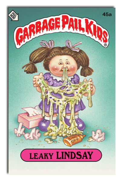 Garbage Pail Kids Leaky Lindsay 8x12 Inch Aluminum Sign