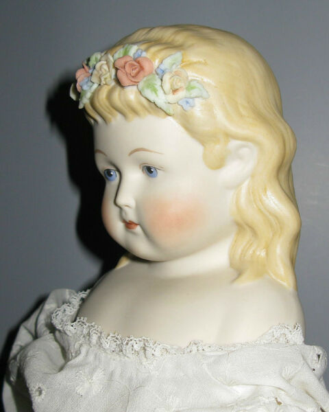 ARTIST DOLL WITH FLOWERS IN HAIR