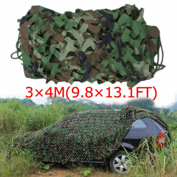 13x10ft Woodland Camouflage Netting Military Camo Net Hunting w String Backing