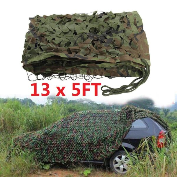 13x5ft Camouflage Hunting Camping Camo Net Woodland Jungle Military Hide Shade