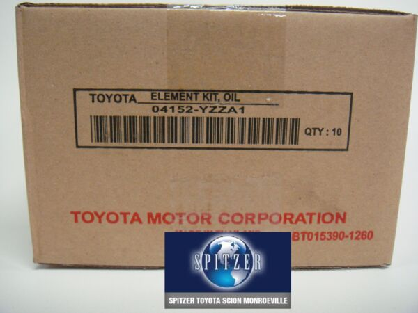 TOYOTA OEM Engine-Oil Filter 04152YZZA1,04152-YZZA1 YZZA1( SOLD AS A CASE OF 10)