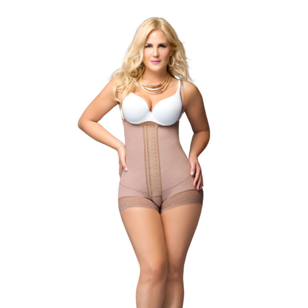 Fajas DPrada 11066 Colombian Shapewear Short Style with Buttocks Enhancement