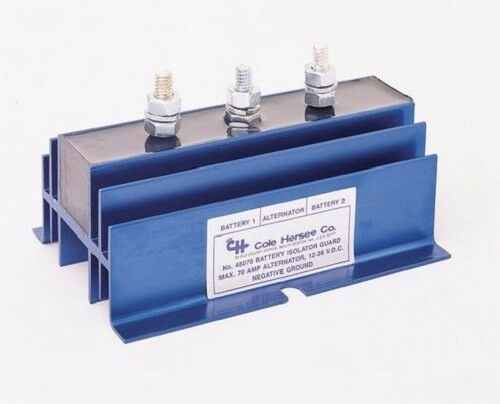 Cole Hersee 48070 3-Stud 70 Amp 12-36V DC Battery Isolator
