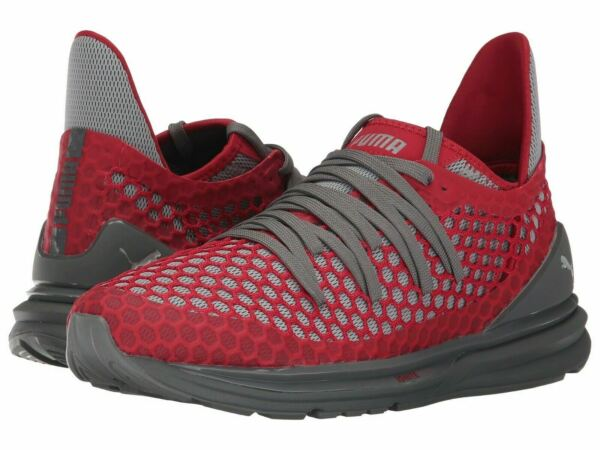 New Men's Puma Ignite Limitless Netfit - 189983-02 Red/Grey Training Sneaker