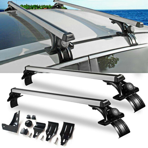 Universal Car Top Roof Cross Bar Luggage Cargo Carrier Rack SUV w/ 3 Kinds Clamp