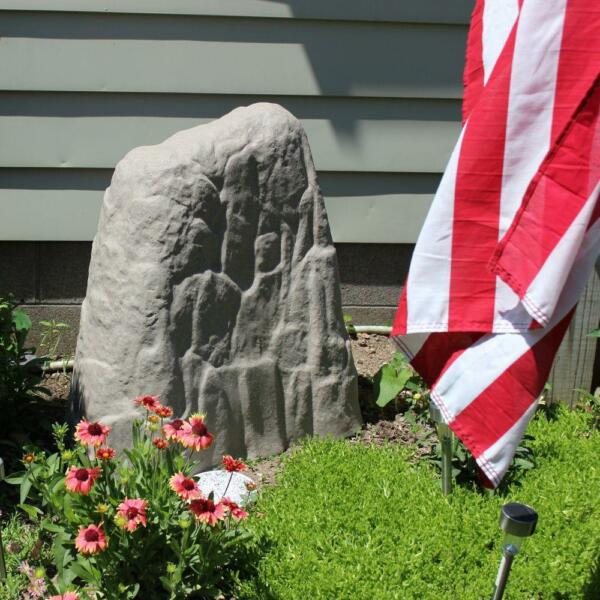 Outdoor large Resin Boulder Landscape Rock Stone Fake Cover Garden Yard Decor $159.99