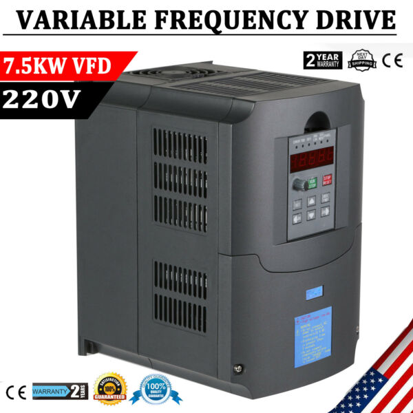 7.5KW 220V 10HP 34A VFD VARIABLE FREQUENCY DRIVE INVERTER CE QUALITY TOP