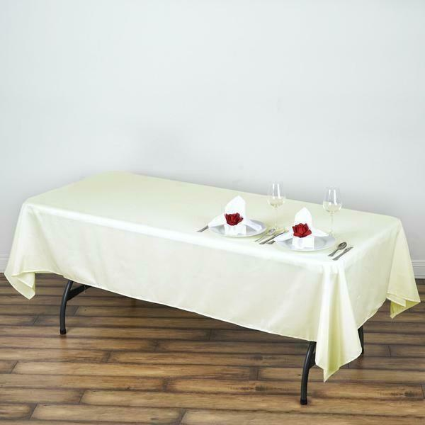 60x102quot; Polyester Rectangle Tablecloths For Wedding Party Banquet Events