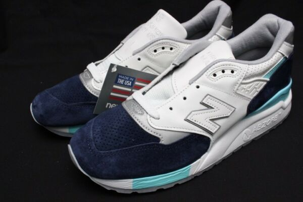 NEW BALANCE MADE IN THE USA M998WTP WHITE/NAVY