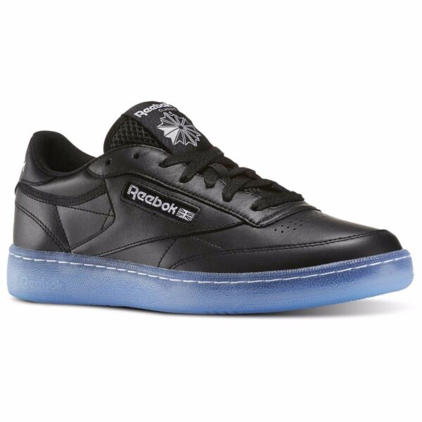 [BD1673] Mens Reebok Classics Club C 85 Ice Sneaker - Black White Ice