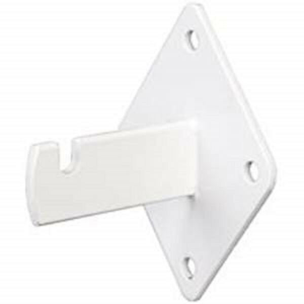 Gridwall Wall Mount Bracket - Grid Panel Mounting Brackets - White - 50 Pieces