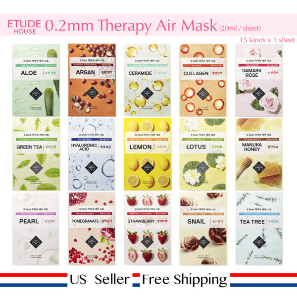 Tonymoly I'm Real Mask Sheet Pack 21ml + Free Sample [ US Seller ] Choose Kinds