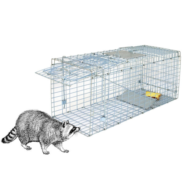32'' Humane Live Animal Trap 1 Door Rodent Cage for Rabbits Cat Raccoon Squirrel