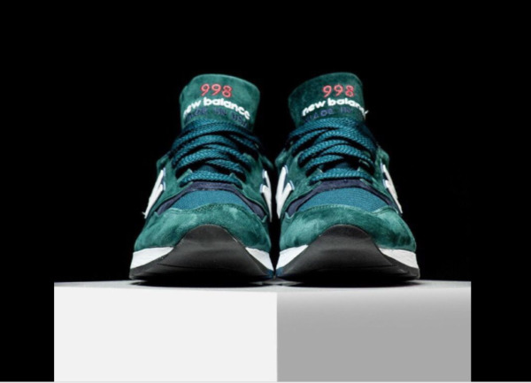 $180 NEW BALANCE 998 AGE OF EXPLORATION M998CHI MADE IN USA GREEN/RED SIZE 7.5