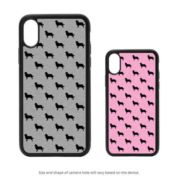 Bernese Mountain Dog Silhouettes Case For iPhone X XS Max XR 8 7 6 Galaxy S9 S8