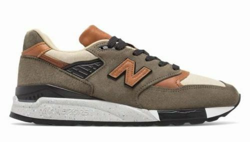 $280 New Balance 998 Made In USA M998XAD Men  Leather Camel Military New