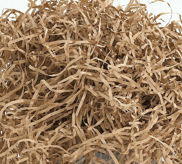8oz KRAFT BROWN Fine Cut Gift Basket Shred Shredded Paper Filler Bedding Grass
