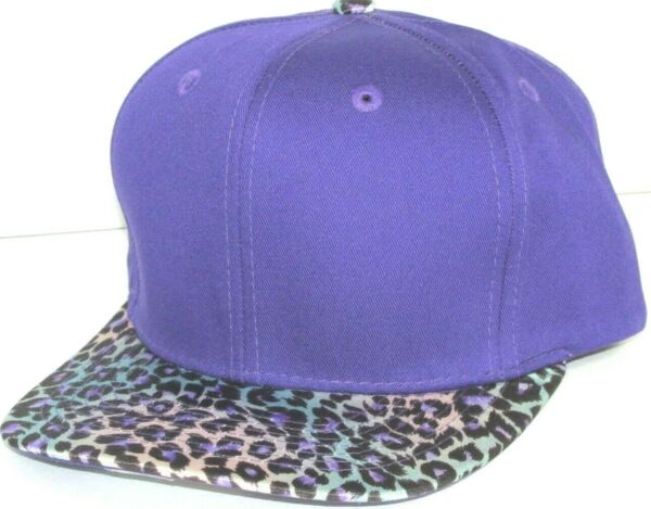 CAP ANIMAL PRINT CHEETAH ZEBRA Snap-back FLAT  BILL Hat Cap  REGISTER J 1